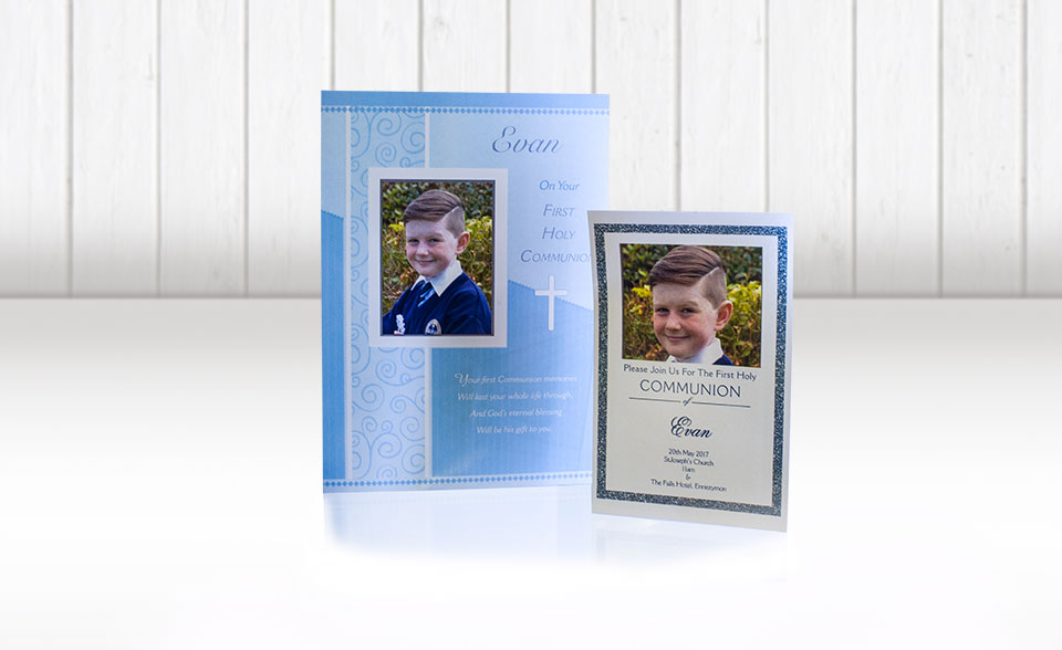 Fuji Fujifilm Galway Communion greeting cards personalised with photos